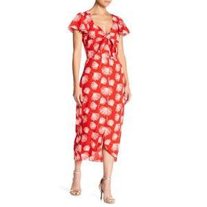Lucy Paris Lana Front Tie Maxi Dress NWT